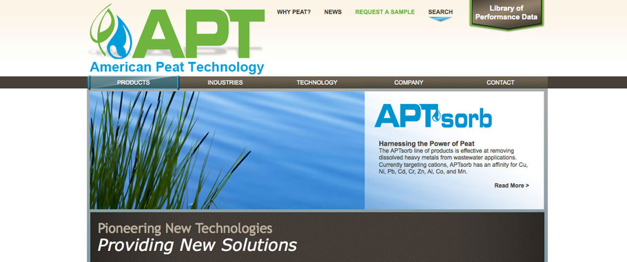 AmericanPeatTech.com – Design – Development